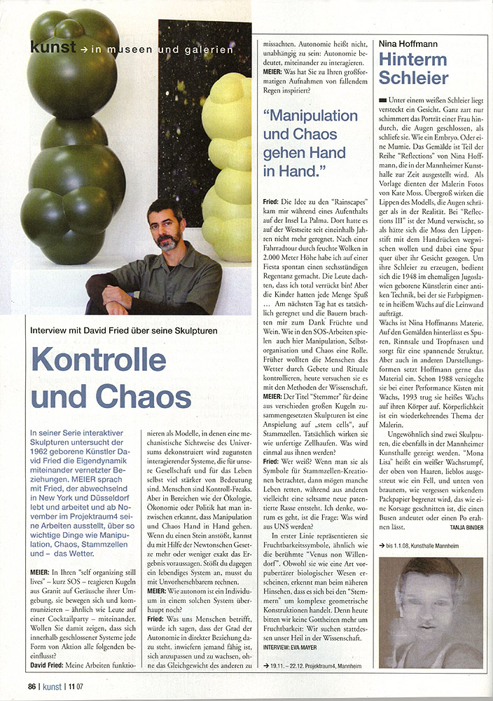 Meier das stadtmagazin Fried Interview